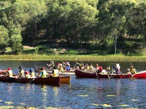 Kedron Cub Scouts canoeing at Karingal